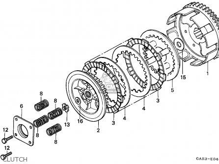 Honda NSR75 1994 (R) SPAIN / REP parts lists and schematics