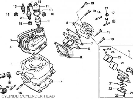 Honda Nsr75 1994 Spain / Hrc parts list partsmanual partsfiche