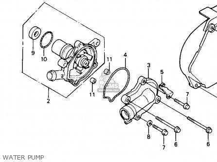 Honda NT650 HAWK GT 1988 (J) USA CALIFORNIA parts lists