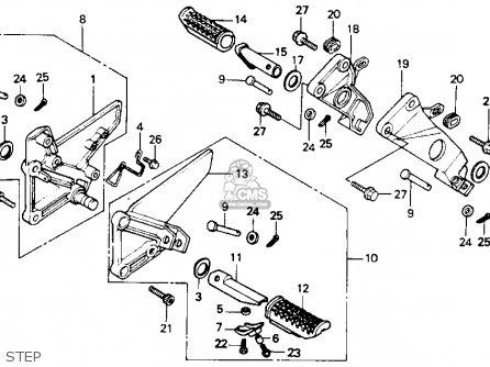 Honda Nt650 Hawk Gt 1988 (j) Usa parts list partsmanual