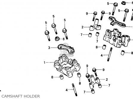 Honda Nt650 Hawk Gt 1988 Usa parts list partsmanual partsfiche