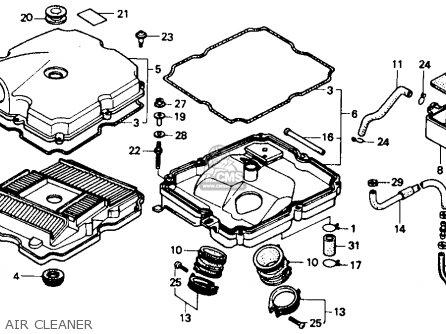Honda Nt650 Hawk Gt 1989 Usa parts list partsmanual partsfiche