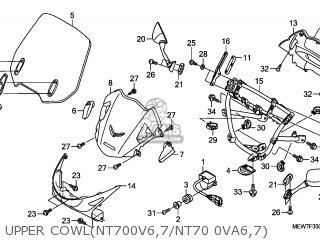 Honda NT700V 2006 (6) FRANCE / CMF parts lists and schematics