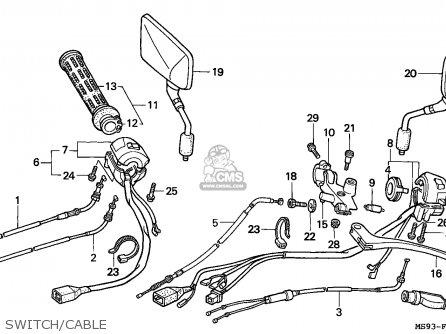 Honda NTV600 REVERE 1991 (M) ENGLAND parts lists and