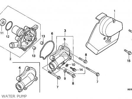 Honda Ntv600 Revere 1991 (m) England parts list