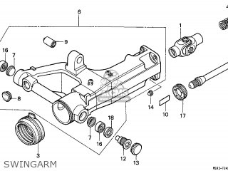 Honda Ntv650 Revere 1989 (k) France / Yb parts list