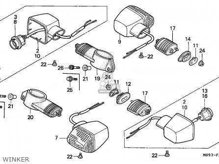 Honda NTV650 REVERE 1990 (L) AUSTRALIA parts lists and