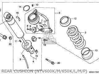Honda Ntv650 Revere 1991 (m) France / Yb parts list