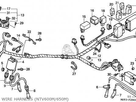 Honda NTV650 REVERE 1991 (M) SWITZERLAND parts lists and