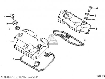 Honda NTV650 REVERE 1993 (P) ENGLAND parts lists and