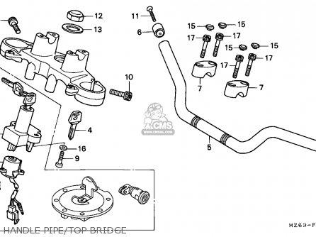 Honda Ntv650 Revere 1995 England / Mkh parts list