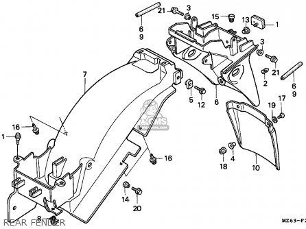 Honda NTV650 REVERE 1997 (V) ENGLAND / MKH parts lists and