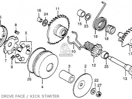 Honda NU50 URBAN EXPRESS 1982 (C) USA parts lists and