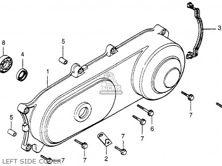 Honda Nu50 Urban Express 1982 Usa parts list partsmanual