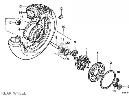 Honda Nv600c Steed 1994 (r) Korea / Kph parts list