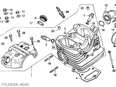 Honda Nx125 1988 Usa parts list partsmanual partsfiche
