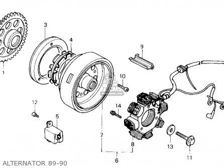 Honda Nx125 1989 Usa parts list partsmanual partsfiche