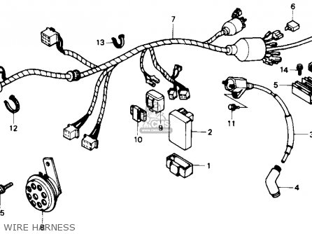 Honda Nx125 1989 Usa parts list partsmanual partsfiche