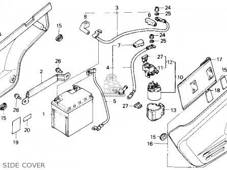 Honda Nx125 Dominator 1988 (j) Usa California parts list