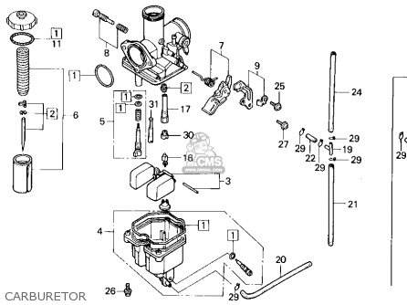 Honda Nx125 Dominator 1989 (k) Usa California parts list