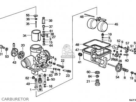 Honda Nx125 Transcity 1989 (k) France / Cmf parts list