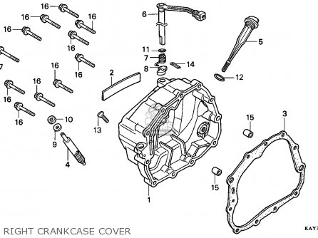 Honda Nx125 Transcity 1989 (k) France / Cmf parts list
