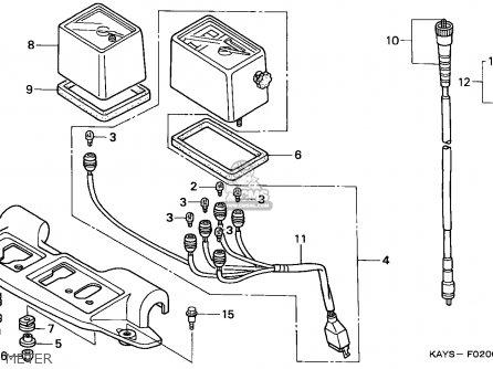Honda Nx125 Transcity 1995 Italy parts list partsmanual