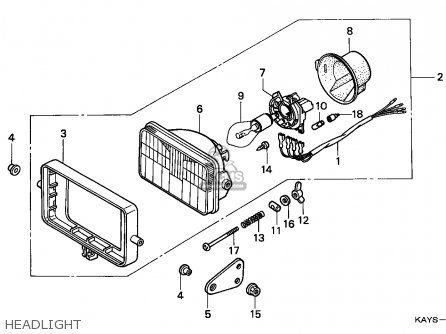 Honda Nx125 Transcity 1995 (s) Italy parts list