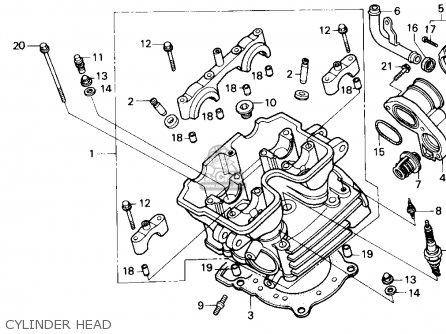Honda Nx250 1988 (j) Usa California parts list partsmanual