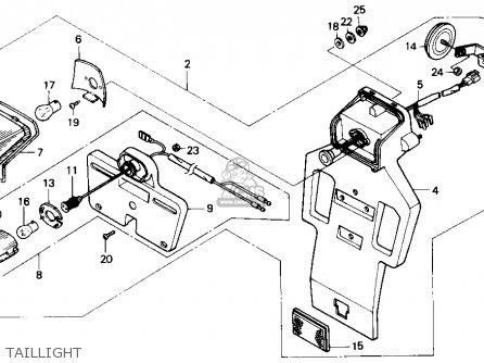 Honda Nx250 1988 (j) Usa parts list partsmanual partsfiche