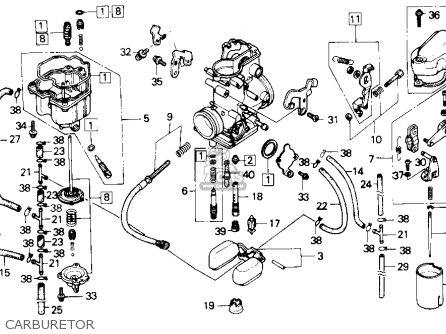 Honda Nx250 1988 Usa parts list partsmanual partsfiche