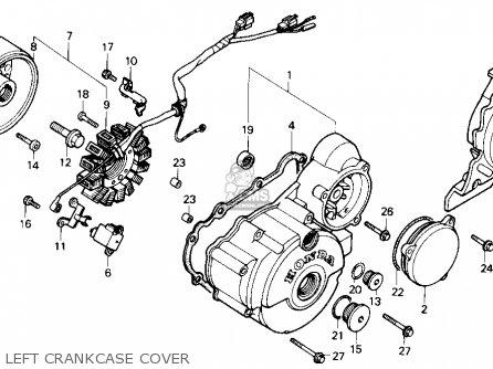 Honda Nx250 1988 Usa parts list partsmanual partsfiche