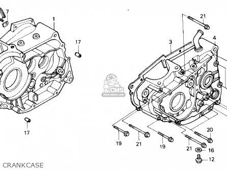 Honda Nx250 1989 (k) Usa California parts list partsmanual