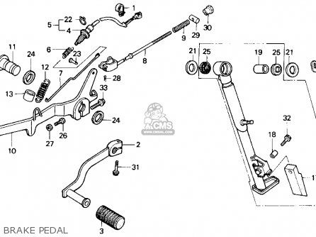 Honda Nx250 1990 (l) Usa California parts list partsmanual