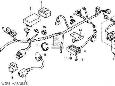 Honda Nx250 1990 Usa parts list partsmanual partsfiche