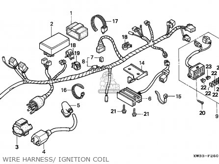 Honda Nx250 Dominator 1988 Spain parts list partsmanual