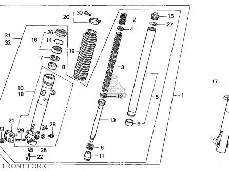 Honda Nx250 Dominator 1989 (k) Denmark parts list