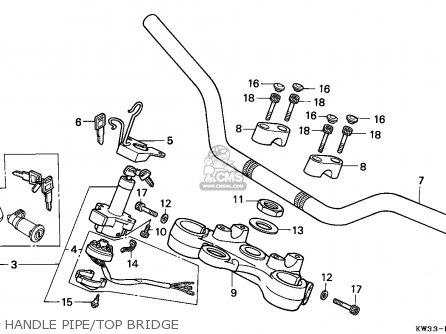 Honda Nx250 Dominator 1989 (k) Germany parts list
