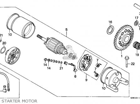 Honda NX250 DOMINATOR 1989 (K) GERMANY parts lists and