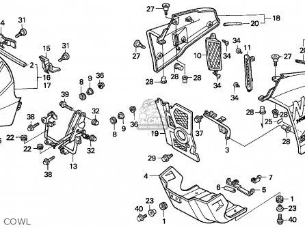 Honda NX250 DOMINATOR 1990 (L) GERMANY parts lists and
