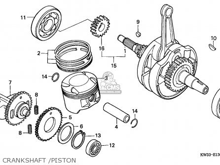 Honda Nx250 Dominator 1990 (l) Spain parts list
