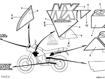 Honda NX250 DOMINATOR 1990 (L) SPAIN parts lists and