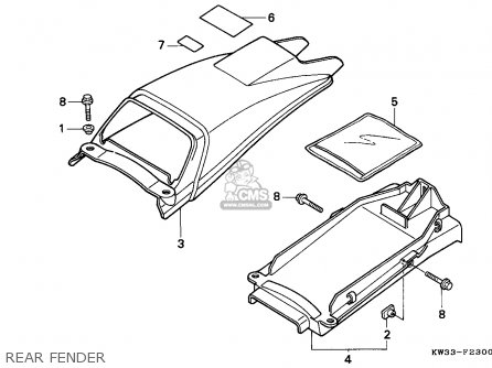 Honda NX250 DOMINATOR 1993 (P) SWITZERLAND parts lists and