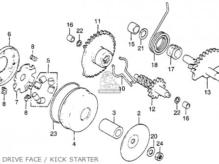 Honda NX50M EXPRESS SR 1981 (B) USA parts lists and schematics