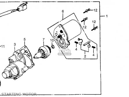 Honda Nx50m Express Sr 1981 (b) Usa parts list partsmanual