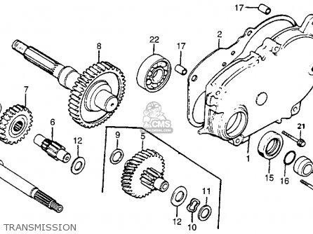 Honda Nx50m Express Sr 1981 (b) Usa parts list partsmanual