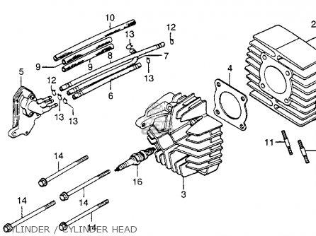 Honda Nx50m Express Sr 1981 Usa parts list partsmanual