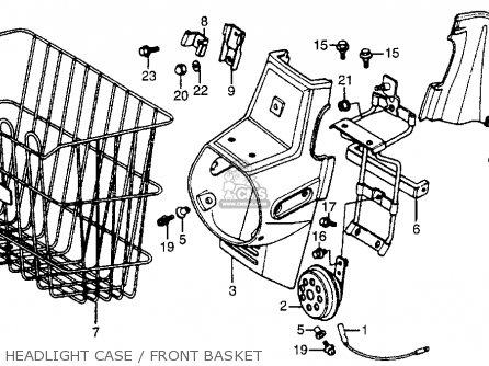 Honda NX50M EXPRESS SR 1982 (C) USA parts lists and schematics