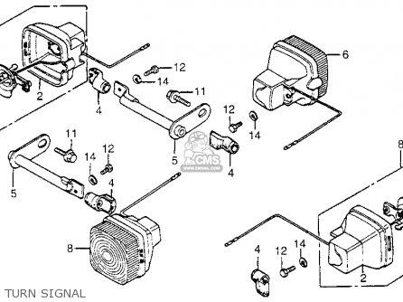 Honda Nx50m Express Sr 1982 (c) Usa parts list partsmanual