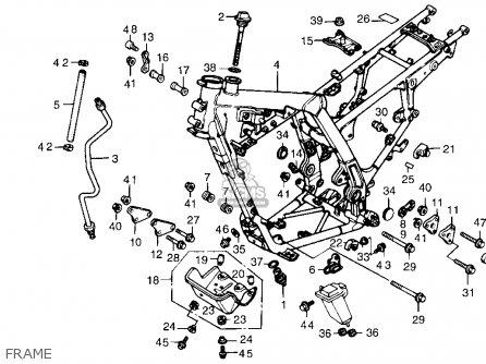 Honda Nx650 1989 Usa parts list partsmanual partsfiche